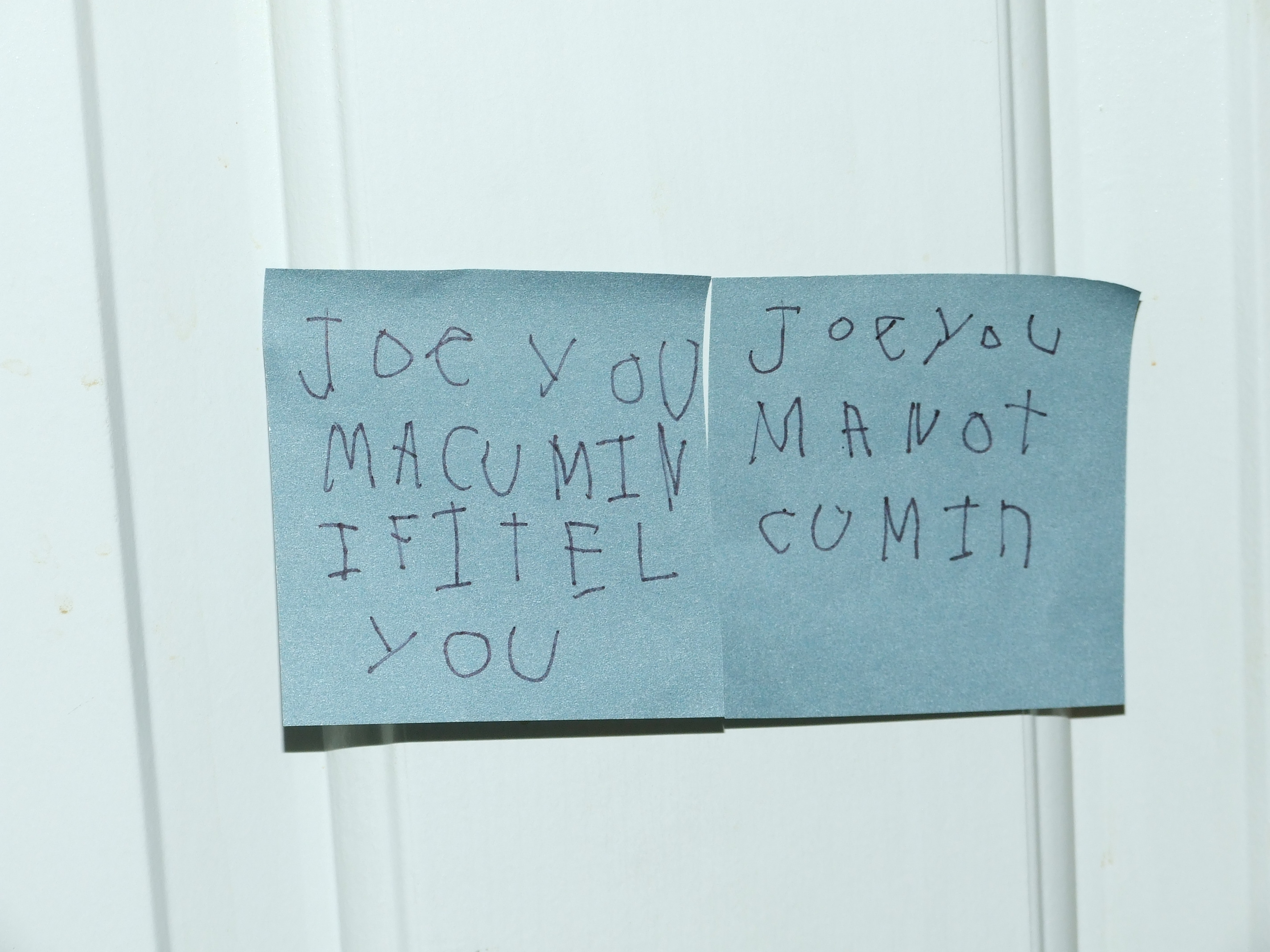 First Joe ... & Be advised: There is a note on the door u2013 Lenoreu0027s Thoughts Exactly pezcame.com